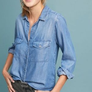 Anthropologie CLOTH & STONE Chambray Shirt Large
